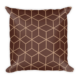 Diamonds Brown Square Premium Pillow by Design Express