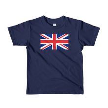 "Navy / 2yrs United Kingdom Flag ""Solo"" Short sleeve kids t-shirt by Design Express"
