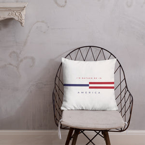 "Default Title America ""Tommy"" Square Premium Pillow by Design Express"