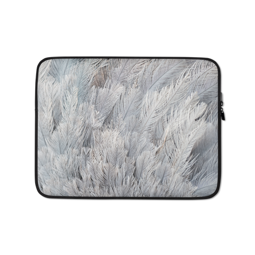 13 in Ostrich Feathers Laptop Sleeve by Design Express