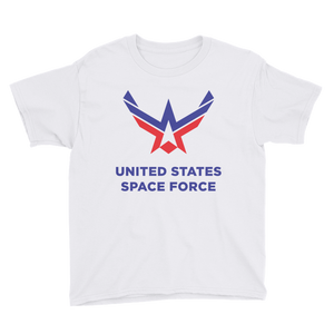 White / XS United States Space Force Youth Short Sleeve T-Shirt by Design Express