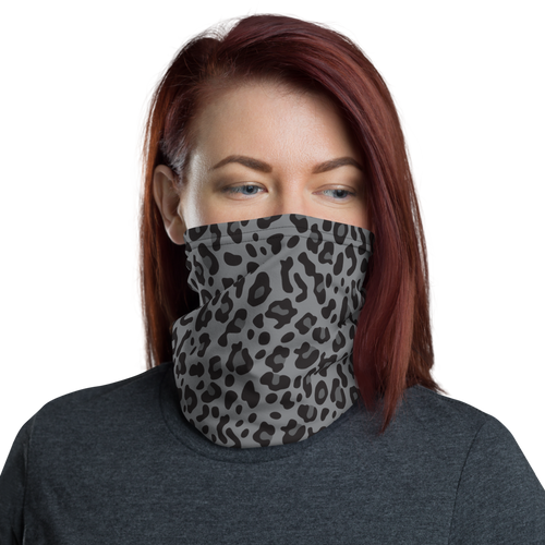 Default Title Grey Leopard Print Face Mask & Neck Gaiter by Design Express