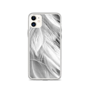 iPhone 11 White Feathers iPhone Case by Design Express