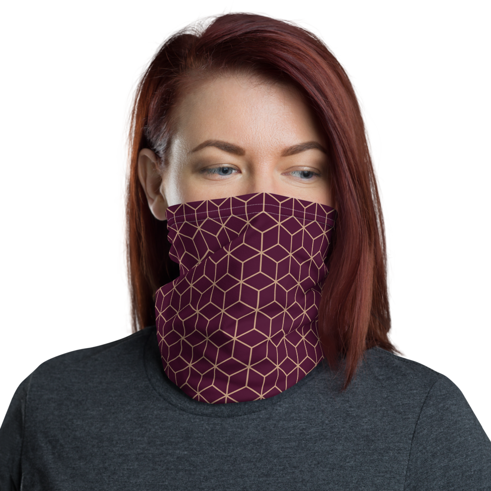 Default Title Diamond Wine Pattern Neck Gaiter Masks by Design Express