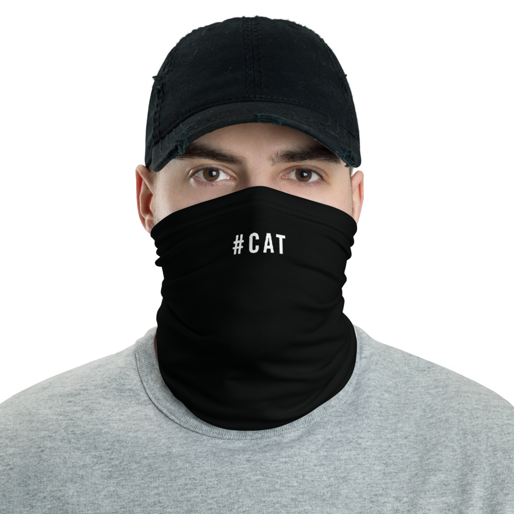 Default Title #CAT Hashtag Neck Gaiter Masks by Design Express