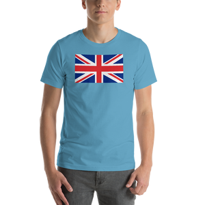 "Ocean Blue / S United Kingdom Flag ""Solo"" Short-Sleeve Unisex T-Shirt by Design Express"