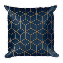 Diamonds Navy Gold Square Premium Pillow by Design Express
