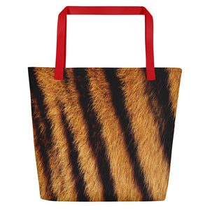 "Red Tiger ""All Over Animal"" 4 Beach Bag Totes by Design Express"
