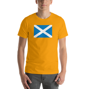 "Gold / S Scotland Flag ""Solo"" Short-Sleeve Unisex T-Shirt by Design Express"
