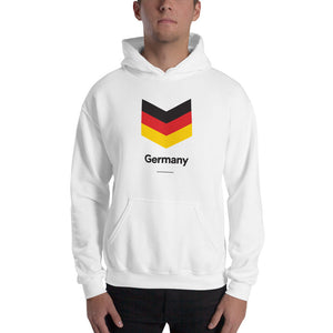 "White / S Germany ""Chevron"" Hooded Sweatshirt by Design Express"