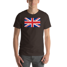 "Brown / S United Kingdom Flag ""Solo"" Short-Sleeve Unisex T-Shirt by Design Express"