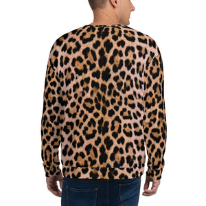 "Leopard ""All Over Animal"" Unisex Sweatshirt by Design Express"