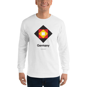 "White / S Germany ""Diamond"" Long Sleeve T-Shirt by Design Express"