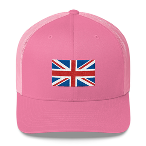 "Pink United Kingdom Flag ""Solo"" Trucker Cap by Design Express"