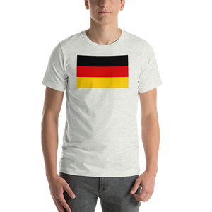 Ash / S Germany Flag Short-Sleeve Unisex T-Shirt by Design Express