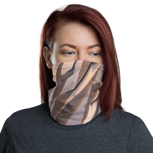 Default Title Abstract Metal Neck Gaiter Masks by Design Express