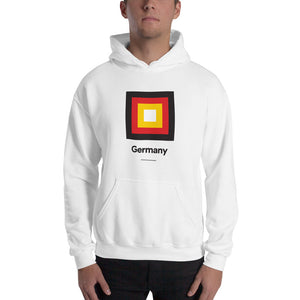 "White / S Germany ""Frame"" Hooded Sweatshirt by Design Express"