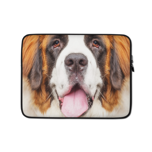 13 in Saint Bernard Dog Laptop Sleeve by Design Express