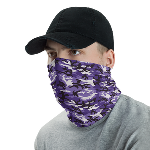 Purple Camo Neck Gaiter Masks by Design Express