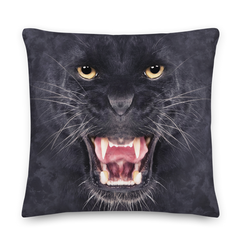 22×22 Black Panther Square Premium Pillow by Design Express