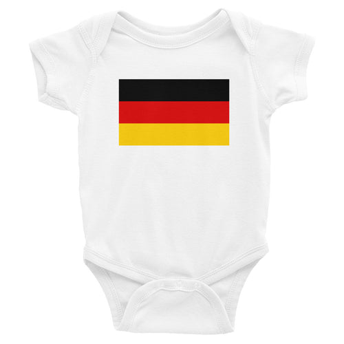 White / 6M Germany Flag Infant Bodysuit by Design Express