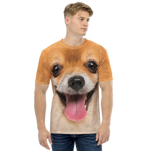 XS Pomeranian Dog Men's T-shirt by Design Express