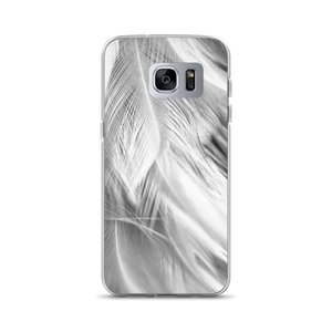 Samsung Galaxy S7 Edge White Feathers Samsung Case by Design Express