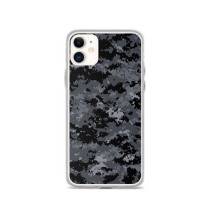 iPhone 11 Dark Grey Digital Camouflage Print iPhone Case by Design Express