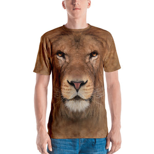 "XS Lion ""All Over Animal"" Men's T-shirt All Over T-Shirts by Design Express"