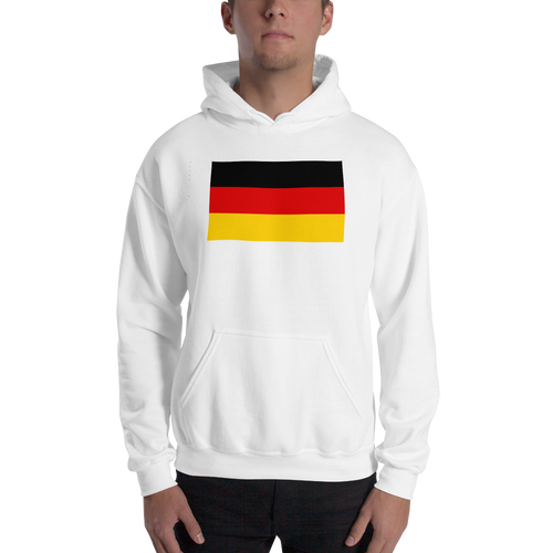 White / S Germany Flag Hooded Sweatshirt by Design Express