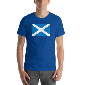 "True Royal / S Scotland Flag ""Solo"" Short-Sleeve Unisex T-Shirt by Design Express"
