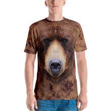 "XS Grizzly 02 ""All Over Animal"" Men's T-shirt All Over T-Shirts by Design Express"