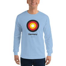 "Light Blue / S Germany ""Target"" Long Sleeve T-Shirt by Design Express"