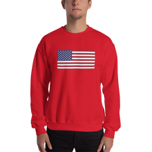 "Red / S United States Flag ""Solo"" Sweatshirt by Design Express"