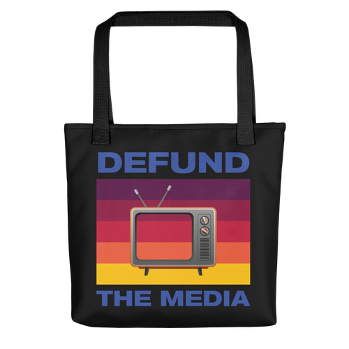 Defund The Media Color Tote bag