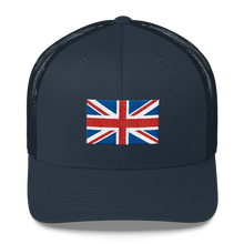 "Navy United Kingdom Flag ""Solo"" Trucker Cap by Design Express"