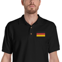 Black / S Germany Flag Embroidered Polo Shirt by Design Express