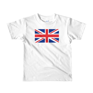 "White / 2yrs United Kingdom Flag ""Solo"" Short sleeve kids t-shirt by Design Express"