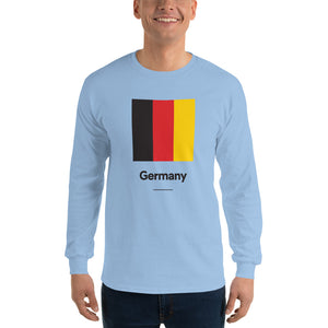 "Light Blue / S Germany ""Block"" Long Sleeve T-Shirt by Design Express"