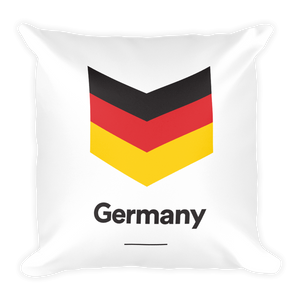 "Default Title Germany ""Chevron"" Square Pillow by Design Express"