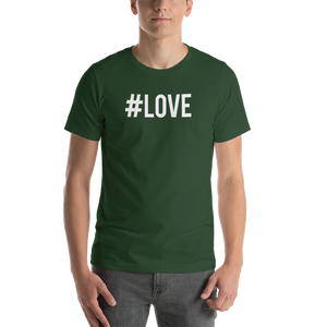 Forest / S Hashtag #LOVE Short-Sleeve Unisex T-Shirt by Design Express