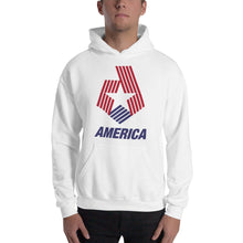 "White / S America ""Star & Stripes"" Hooded Sweatshirt by Design Express"