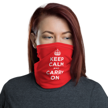 Default Title Red Keep Calm & Carry On Face & Neck Gaiter Masks by Design Express