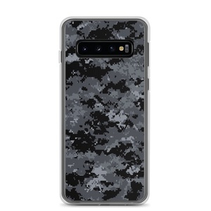Samsung Galaxy S10 Dark Grey Digital Camouflage Print Samsung Case by Design Express