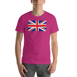 "Berry / S United Kingdom Flag ""Solo"" Short-Sleeve Unisex T-Shirt by Design Express"