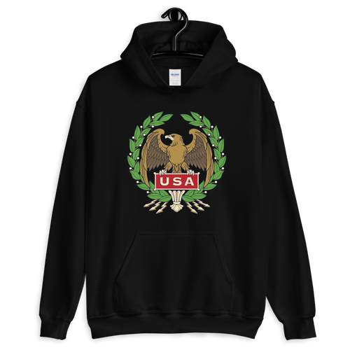 S USA Eagle Unisex Hoodie by Design Express