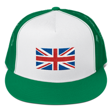 "Kelly/ White/ Kelly United Kingdom Flag ""Solo"" Trucker Cap by Design Express"