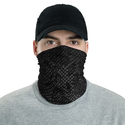 Default Title Black Snake Skin Neck Gaiter Masks by Design Express