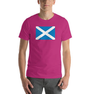 "Berry / S Scotland Flag ""Solo"" Short-Sleeve Unisex T-Shirt by Design Express"