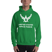 "Irish Green / S United States Space Force ""Reverse"" Hooded Sweatshirt by Design Express"